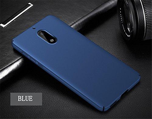 per Nokia Nokia anti Ultra 6 Shell Case Bumper protettiva per graffio Adamark Blu 2017 Custodia Pc 2017 Custodia Slim Cover rigido Rosso antiurto Case Scrub 1XxInf