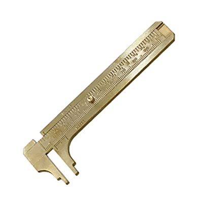 100mm Mini Brass Sliding Gauge Vernier Caliper Measure Measurement Tool Nt
