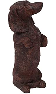 Amazoncom Skippy the Dachshund Outdoor Statues Patio Lawn