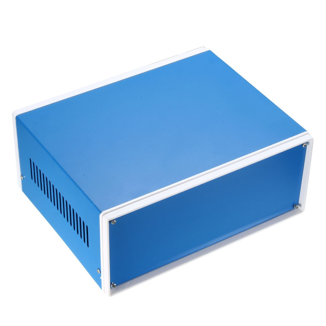 uxcell 230 x 185 x 100 Electronic Iron DIY Junction Box Enclosure Case Blue