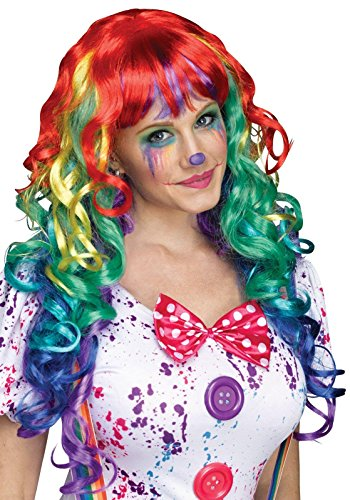Rainbow Curlz Wig Costume Accessory (Halloween Costumes With Colored Wigs)