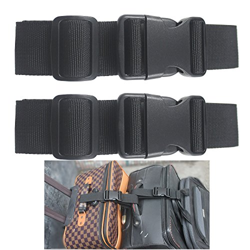 - Two Add a Bag Luggage Strap Travel Luggage Suitcase Adjustable belt Travel Accessories Travel Attachment - Connect your three luggages together