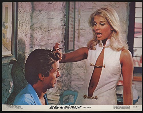 The Day the Fish Came Out lobby card 1967 Candice Bergen twists his hair ()