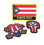 Puerto Rico Patches, 3pc, Puerto Rico flag, Boricua style