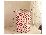Gelaiken Lightweight Watermelon Pattern Storage Bag Cotton Bucket Sundries Storage Bucket(White+Red)
