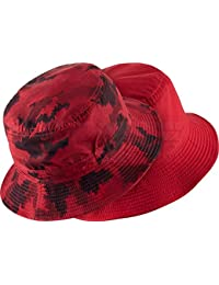 red nike bucket hat