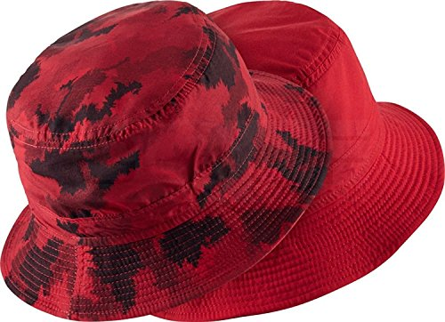 Nike Men's Golf Bucket Hat (Small/Medium, 657 University Red/Black)