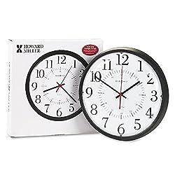 MIL625323 - Howard Miller Alton Auto Daylight Savings Wall Clock