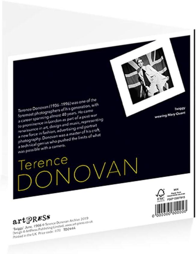 ArtPress Terence Donovan Twiggy Greeting Card 15 x 15 cm