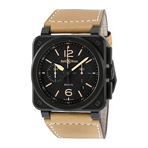 Bell-Ross-Mens-BR03-94-HERITAGE-Avation-Watch-with-Beige-Leather-Strap