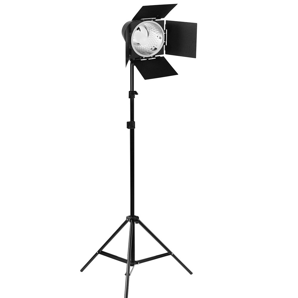Continuous Photography Studio Barn Door Light, 86 Inch Adjustable Light Stand, and 150W JDD Light Bulb, Photo/Video Studio Lighting Kit PR12_AM1