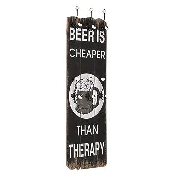 vidaXL Perchero Pared Beer Cheaper de 6 Ganchos 120x40cm ...