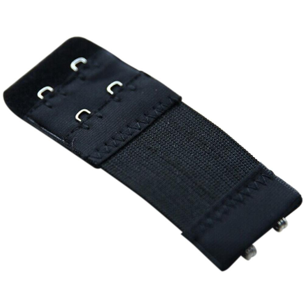 3PCS Useful Womens 2 Hooks Bra Strap Extender Extension Black