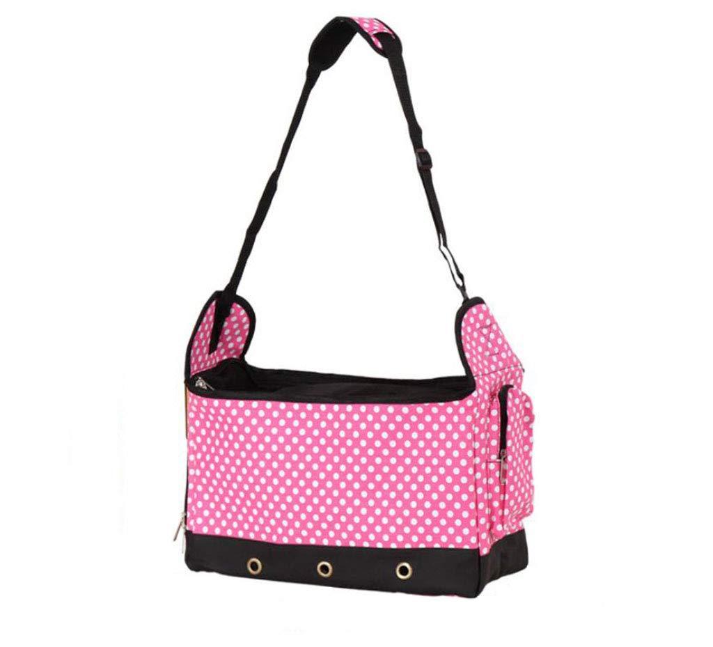 Pink Pet Bag Out Portable Messenger Bag Fashion Breathable Shoulder Bag Dog Backpack Handbag,Pink