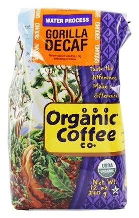 The Organic Coffee Co. Ground, Decaf Gorilla, 12 Ounce (1 ()