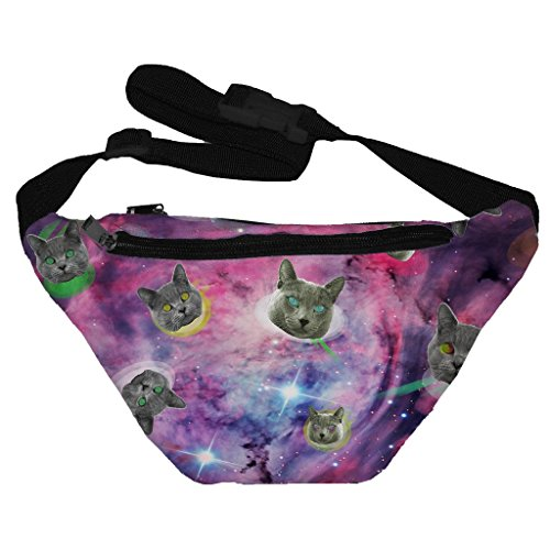 [Funny Guy Mugs Space Cat Fanny Pack] (Best Halloween Costumes Ideas)