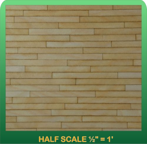 "Greenleaf Doll Houses 1/2"" Scale Miniature Clapboard Siding Half Scale"