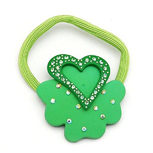 (Four-leaf clover heart string band Korea tiara hair bands updo hair accessories jewelry headwear-B)