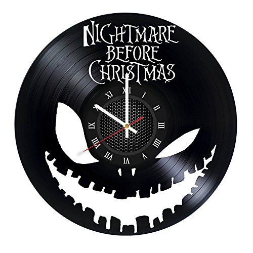 Nightmare Before Christmas Vinyl Record Wall Clock.Get unique home room wall decor. ()
