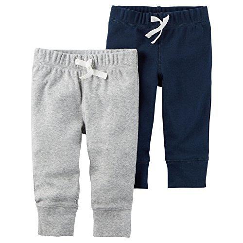 Carter's Baby Boys' 2-Pack Pants 24 (Toddler Boys Sweatpants)