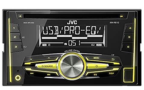 jvc kw r510e usb cd receiver mit front aux eingang schwarz. Black Bedroom Furniture Sets. Home Design Ideas