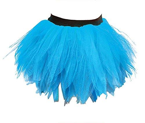 Fte Club Jupe Janisramone Turquoise Fantaisie Danse Poule Ptale Robe Usure Tutu Nuit 6 Dames Nouveau Couches Mini Femmes Zombi TxTr7