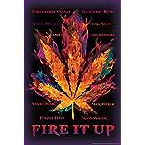 Fire It Up Marijuana Pot Leaf Names College Poster 12x18