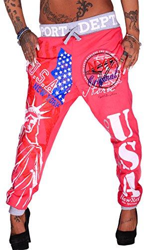 Mujer Pantalones Deportivos largos, NYC Rosa