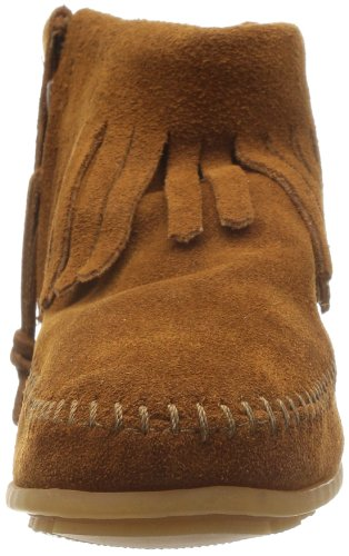 Womens Boots Zip Boot Feather Brown Concho Minnetonka Side 7qUZZw