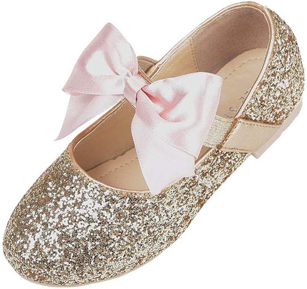 DREAM PAIRS Kids Girls Babys Flat Shoes Princess Shoes Party Wedding Dress Shoes