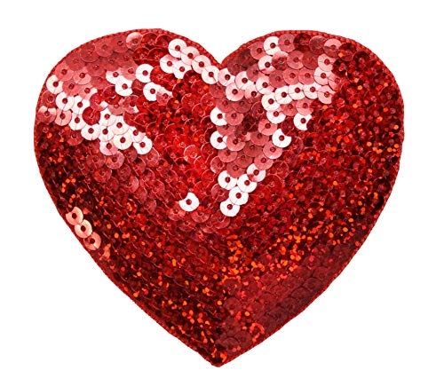 Red Sequin Heart - Valentine XL 4