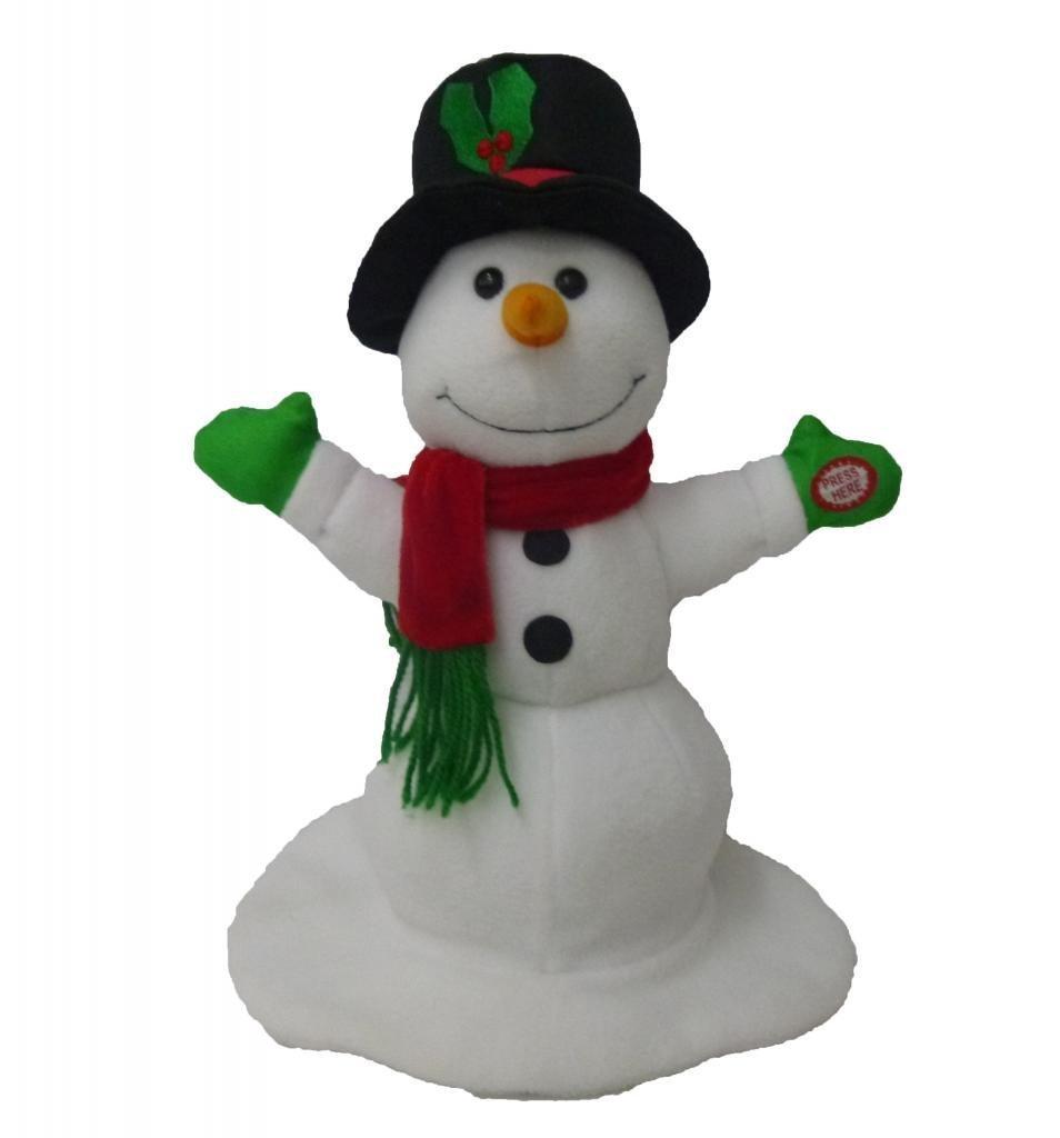 Amazon.com: Singing Spinning Snowman Polyester Musical Animatronic ...
