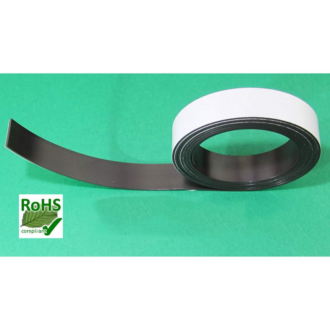 Outgeek Rotolo Magnetico del Rotolo Magnetico Autoadesivo della Striscia Magnetica da 6,56ft per Il Mestiere di DIY