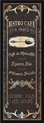 Parisian Signs Panel II Pela Studio Bistro Café Kitchen Sign Art Print (Bistro Framed)