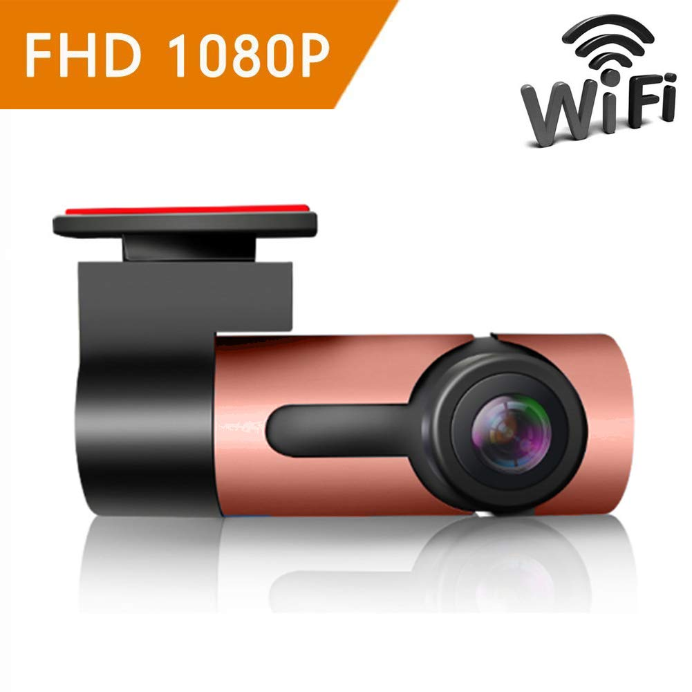 ZYWX Dash Cam (Driving Recorder) 360° Panorama, Full HD 1080P, Parking Monitoring, Loop Recording, Night Vision, One-Click Capture, Hidden Camera,Brown