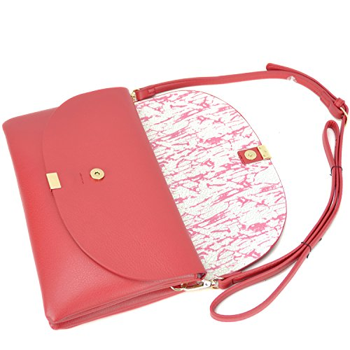 Ipad Womens Purse Red Wristlet Multi Handbag Body Shoulder Mini Compartment Soft Clutch Cross Bag vw6HCxv