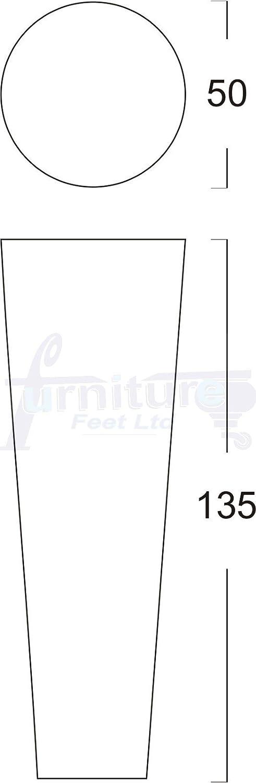 sedie 8/mm ,/TSP2117 Black per divani 4/pezzi poltrone in legno massello Piedi di ricambio per mobili armadi e poggiapiedi M8/