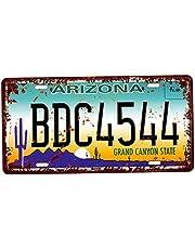 Baoblaze USA tablica rejestracyjna metal tabliczka blaszana tabliczka plakietka do kawiarni bar drzwi - Arizona