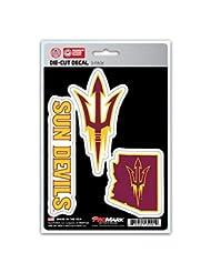NCAA Arizona State Sun Devils Team Decal, 3-Pack