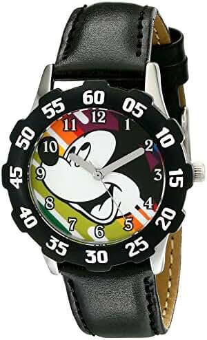 Disney Kids' W001973 Mickey Mouse Analog Display Analog Quartz Black Watch