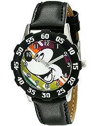 Kids' W001973 Mickey Mouse Analog Display Analog Quartz Black Watch