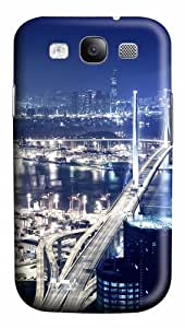 Port At Night PC Custom Design Case Cover for Samsung Galaxy S3 / SIII / I9300