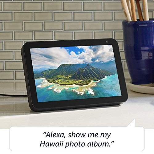 Certified Refurbished Echo Show 8 (1st Gen, 2019 release) -- HD smart display with Alexa – stay connected with video calling - Charcoal