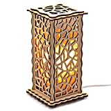 ArtSalt Salt Lamp «Ice» – unique design nightlight in wooden frame with premium dimmable switch and air purifying salt rocks, beautiful gift craft box