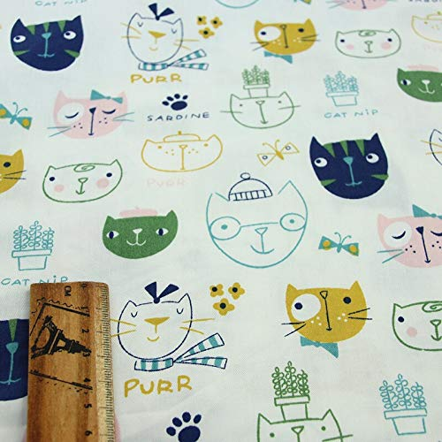 Fabric African|160cm50cm Cotton Pink Green Cartoon Bear owl Arrow cat Chevron Fabric for DIY sheert Bedding Apparel Cushion Handwork Decor|by ATUSY -