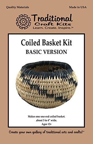 Traditional Craft Kits Coiled Basket Kit (Basic Version)