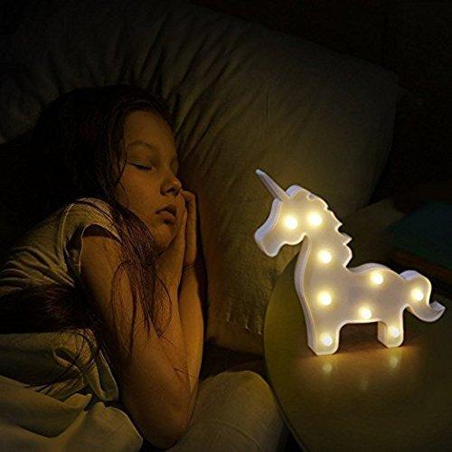 3D LED unicornio noche l/ámpara luz para fiesta boda Navidad regalos decoraci/ón luz led para dormir 37YIMU