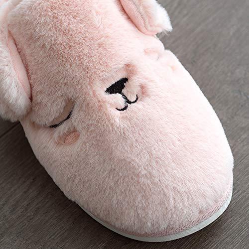 Au Td Épais Pink Belle Pantoufles Chaud Non Plein Ballon En Chaussures Et Fond Automne dérapant Coton Garder Enceinte Intérieur D'hiver De La Air Boule Femme À Femelle Maison w7wvqrp