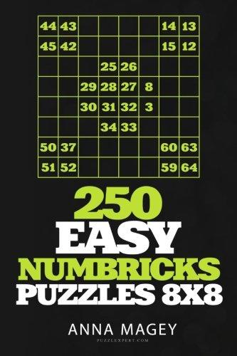 Download 250 Easy Numbricks puzzles 8x8 (Volume 16) PDF