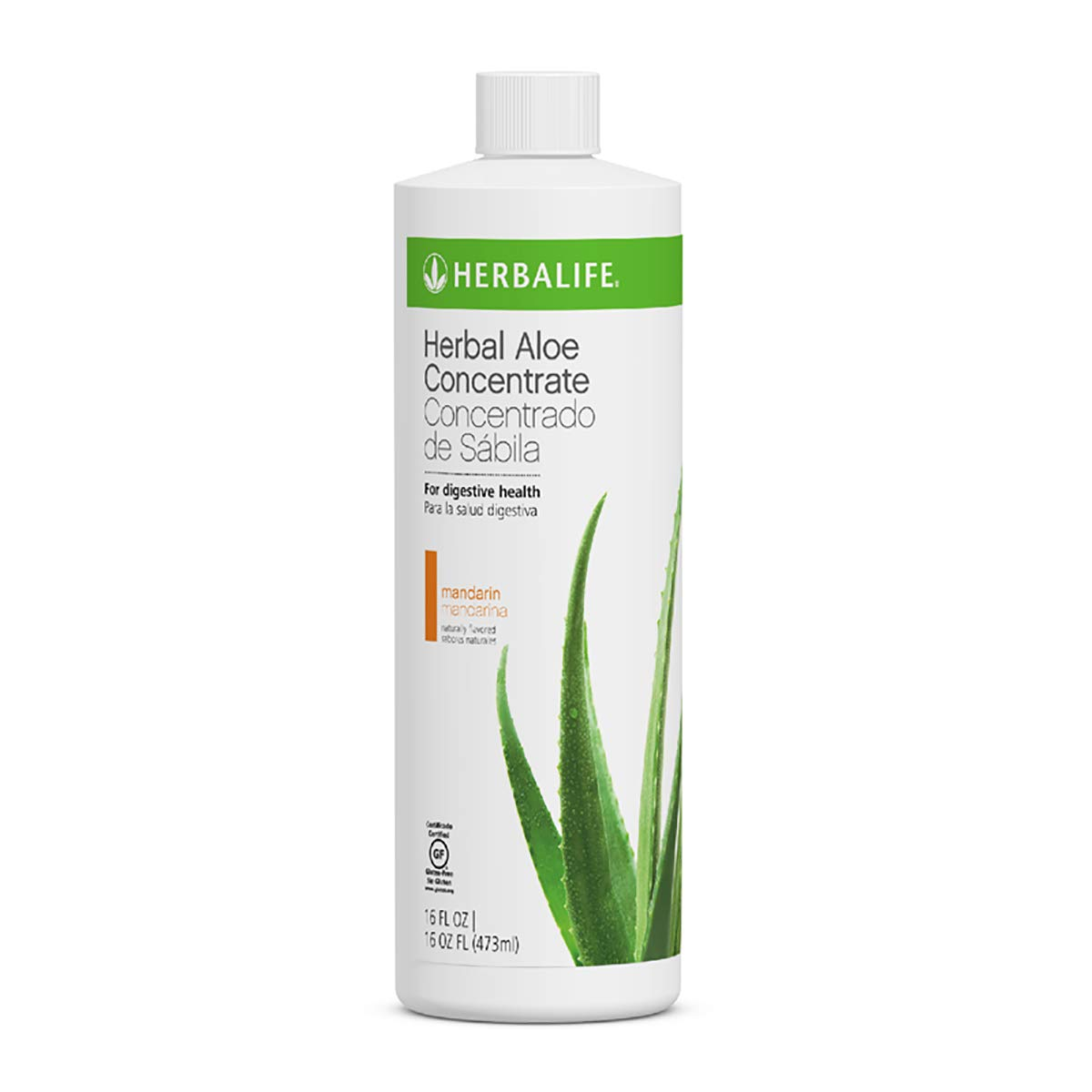 Aloe Vera Herbal Concentrate in Mandarin Pint Flavor 16 Fl.oz Supports Healthy Digestion